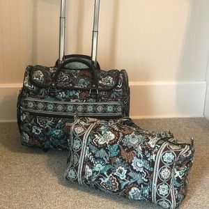 Vera Bradley Wheeled Weekender Bag and Duffle